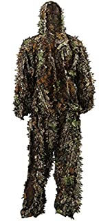 9c7b4341b4b08 Zicac Outdoor Camo Ghillie Suit 3D Leafy Camouflage Clothing Jungle  Woodland Hunting