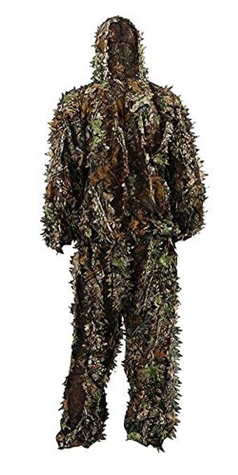 Amazon.com: Zicac traje de camuflaje con hojas 3D para ...