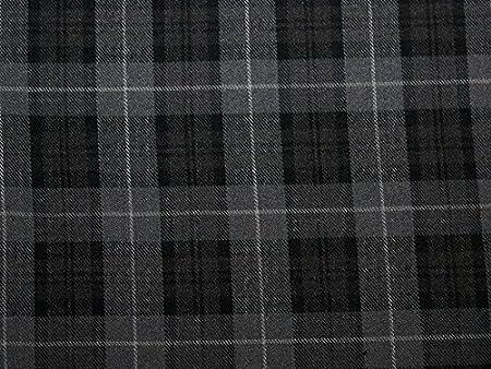 Grey /& Pink Poly-Viscose Tartan Fabric *Per Metre