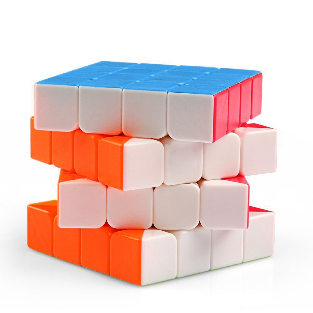 Magic Cube Speed Puzzle 4x4 Cube, Maggie Unfading Color Magic Cube Storage Set Smooth Puzzles Bundle Toy