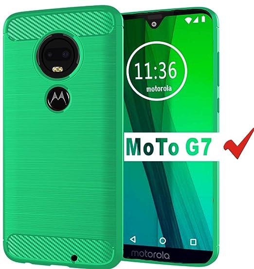 Amazon com: Moto G7 Case, HNHYGETE Soft Slim Shockproof Anti