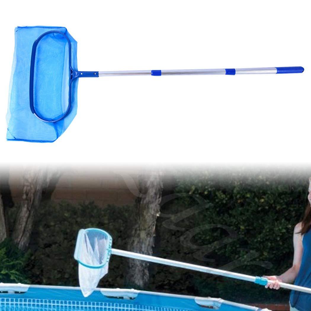 JUSTDOLIFE Pool Net Leaf Skimmer Adjustable Leaf SkimmerLightweight Pool Leaf Net Pool Cleaning Tool