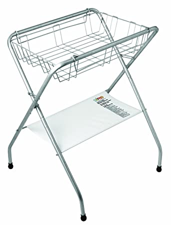 Amazon.com : Primo Folding Bath Stand, Silver Gray : Baby Bathing ...