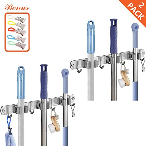 Broom Mop Holder Wall Mounted