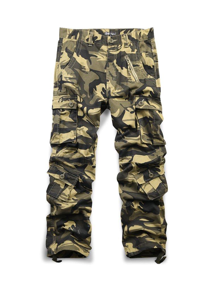 OCHENTA PANTS メンズ B07F6WVCXF 34|#3357 Khaki Camo #3357 Khaki Camo 34