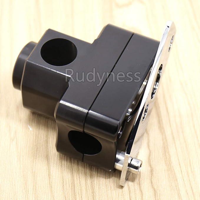 FidgetFidget Handlebar Stand Post Clamp Riser for Honda Ruckus Zoomer Scooter Black