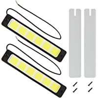 Safego 2Pcs/Set DRL COB LED 60Chips Impermeable Conducción