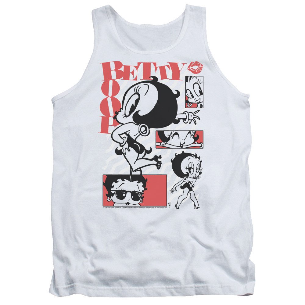 Betty Boop Stylin Snaps Adult Tank Top