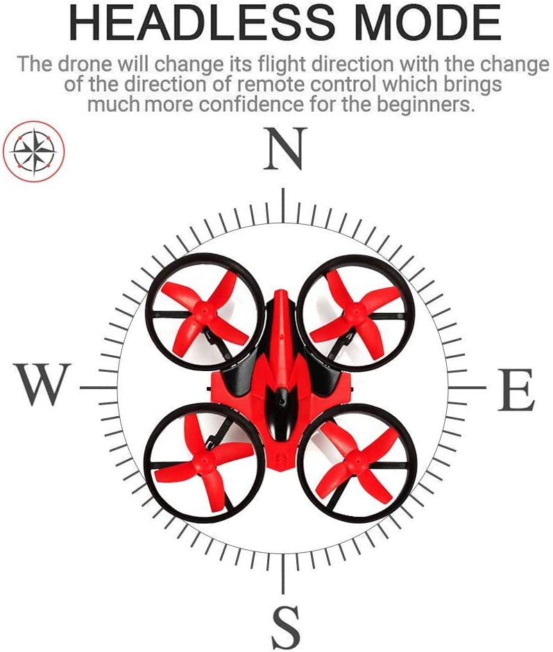 Amazon Com Eachine Mini Drones Para Niños E010 2 4ghz 6 Axis Gyro Control Remoto Mejor Quadcopter Nano Drone Para Adultos Principiantes Modo Sin Cabeza 3d Flip Retorno De Una Tecla Rojo Toys