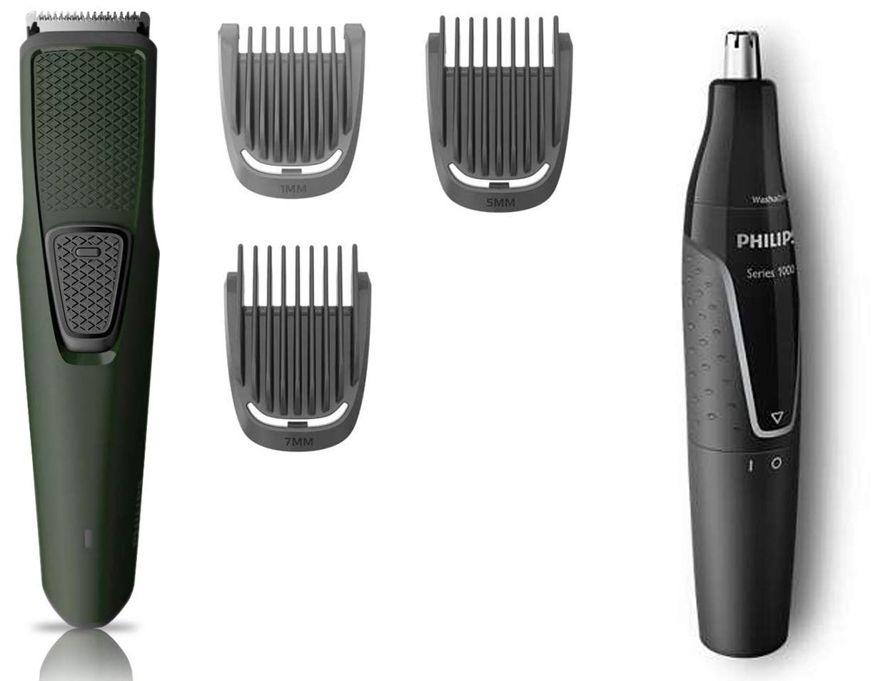 Philips Beard Trimmer (BT1212/15) & Nose Trimmer (NT1120) Combo: Amazon.in:  Health & Personal Care