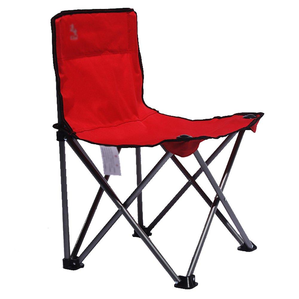Anna Kletterstuhl Falten Sie tragbarer Skizzen-Stuhl-beiläufiger Lehnsessel-im Freien Falten-Stuhl-Kunst-Studenten-Zeichnungs-Stuhl-Reise-Stuhl, der 100kg trägt (Farbe : Rot)