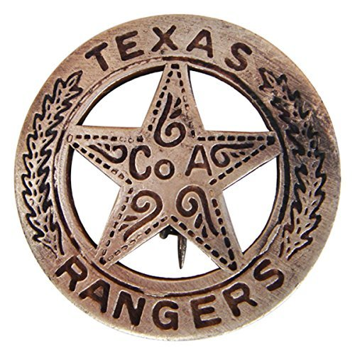 (Brass Texas Ranger Badge With Peso)
