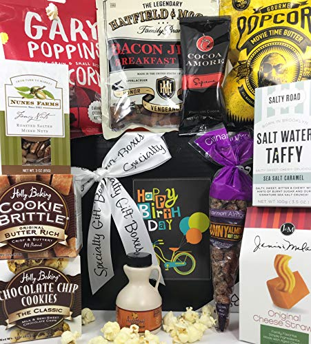 Delights Basket Delicious (Delicious Delights Birthday Gift Box Basket - 12 Best Sellers from 10 Different Companies - You Won't be Disappointed! - Great Birthday Gifts for Men and Women - Send Your Happy Birthday Wishes Today)