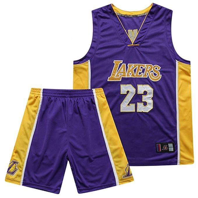 YHEB Camiseta de Baloncesto Lakers, Top de Baloncesto y ...