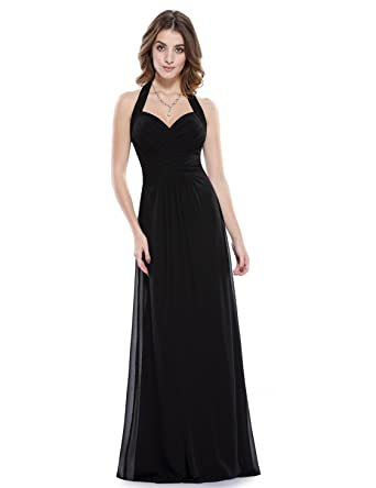 59e28c951279 Ever-Pretty Floor Length Homecoming Dress Black Sleeveless Prom Dressed 4 US