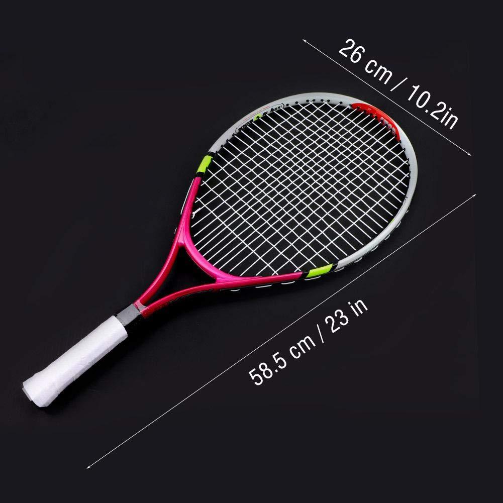 Dilwe Racchetta da Tennis Racchetta Junior con Borsa per Il Tennis allaperto