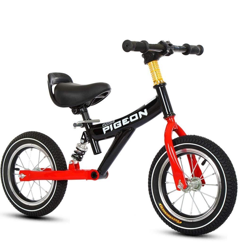 schwarz 12 inch Laufrad, Specialized Running Bike, Mädchenfahrrad - 12-Zoll-Räder ohne Pedale Trainingsfahrrad für 1 2 3 4 5 6 Jahre alte Kinder Geburtstagsgeschenk, Verstellbarer Lenkersitz, schwarz ZHAOFENGMING