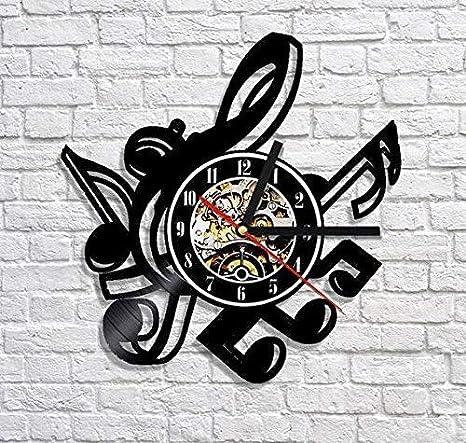 Amazon com: Music Symbols Vinyl Record Wall Clock REM Order