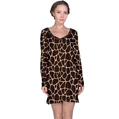 efb60dc69c Womens Brown A Brown and Yellow Giraffe Spotted Long Sleeve ...