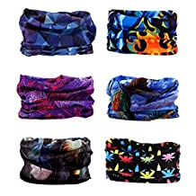 AMYAMY 16 in 1 Wide 6pcs Assorted Seamless Headbands for Men/Women Athletic Moisture Wicking Headwear for Sports Cycling Arm band Hiking Climbing ,Bandana Headwrap Scarf Neck Gaiter Turban Mask