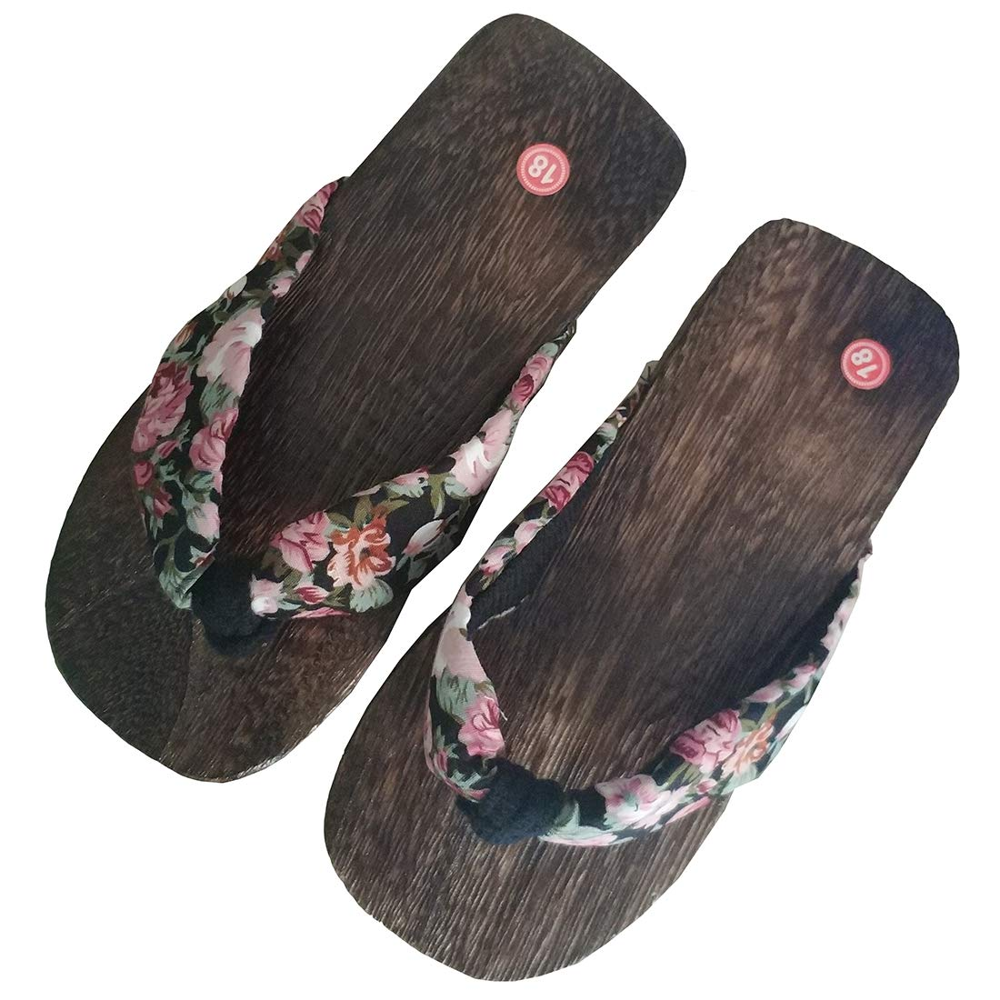 5dbf1a33157e Amazon.com  Ez-sofei Women s Girls Kids Japanese Traditional Wooden Shoes  Floral Geta Sandals  Shoes