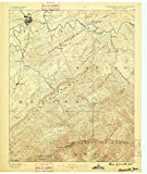 Knoxville TN topo map, 1:125000 scale, 30 X 30 Minute, Historical, 1886, 19.9 x 16.8 IN - Polypropylene