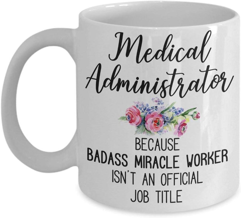 Taza de café administrador médico regalo divertido para administrador médico taza de café Badass milagro trabajador