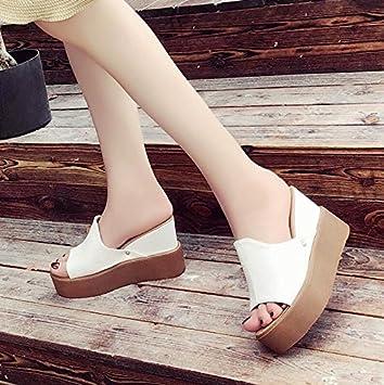 LGK&FA Zapatos De Mujer Zapatillas Y Zapatillas Desgastadas Fuera. 35 Blanco: Amazon.es: Deportes y aire libre