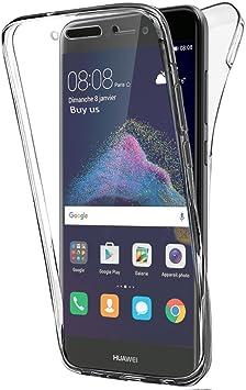 Buyus Coque Gel Huawei P8 Lite 2017 360 Degres Protection Integral Anti Choc, Etui Ultra Mince Transparent Invisible pour P8 Lite (2017)