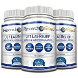 Research Verified Jet Lag Relief - The Best Jet Lag Supplement on the Market - With L-Ornithine, L-theanine and GABA. 100% money back guarantee! - 3 Bottle Supply (27 Flights)