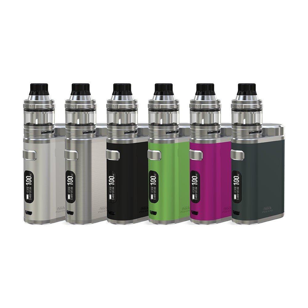 Eleaf iStick Pico 21700 ELLO 2mL Atomizador (Negro) Cigarrillo Electrónico con 1X21700 batería cargador de batería y 18650 USB PEACEVAPE Sin Tabaco y Sin ...