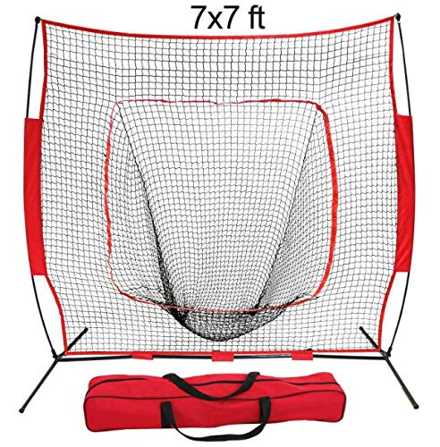 Training Aids Baseball & Softball Practice Net Training Aids W/Carry Bag Portable (7''x7'')