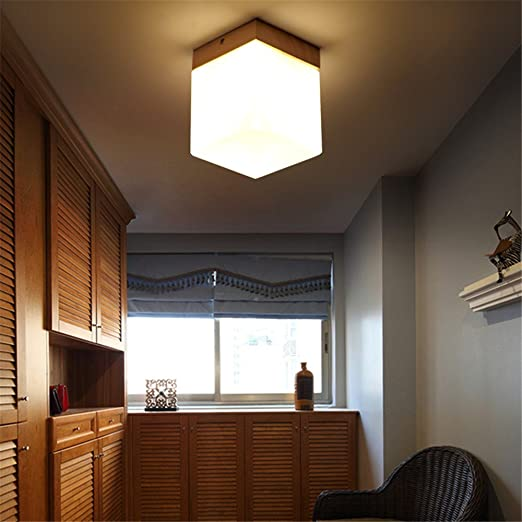 DengWu Lámpara de techo Lámparas de techo de madera abridor ...