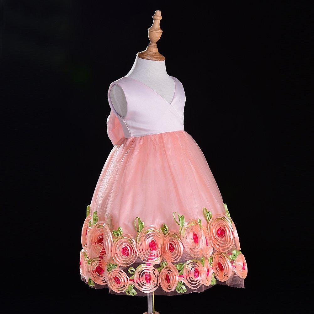 co-sport de noche Little Girls de tul 5T vestidos 1 – 5T – Encaje de ...