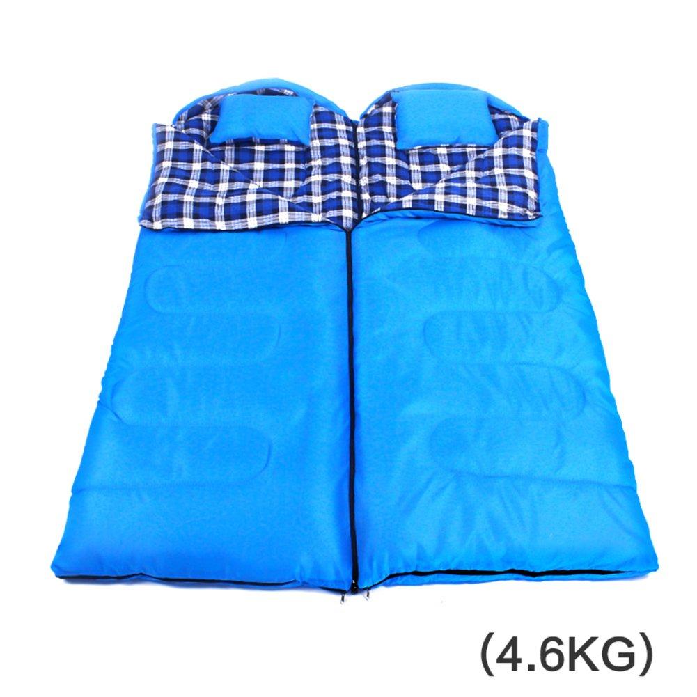 キャンプ 封筒 ミイラ寝袋,探検家 屋外屋内 大人 厚く 暖かい ダブル スリーピング バッグ 四季の B07DR77NHJ I I