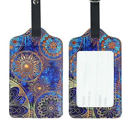 Lizimandu PU Leather Luggage Tags Suitcase Labels Bag Travel Accessories - Set...