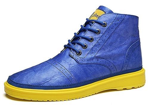 Hishoes Botas Chukka para Hombre Mujer Botines Zapatillas Deportivas Altas - Súper Ligero Material de Papel Impermeable de Kraft - Protección del Medio ...