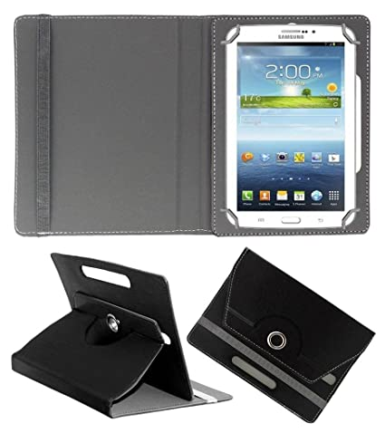 on sale 8755f 04b29 Acm Rotating 360° Leather Flip Case for Samsung Galaxy Tab 3v T116 Cover  Stand Black