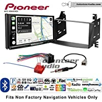 Volunteer Audio Pioneer AVIC-W8400NEX Double Din Radio Install Kit with Navigation, Apple CarPlay and Android Auto Fits 2009-2010 Hyundai Sonata