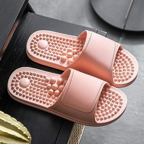 bathroom non-slip soft bottom sandals,Indoor Outdoor Bath Sandal B//H Anti-Skid Rubber Sole,Couple home massage slippers