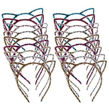 Amazon.com: Hoveox 18 piezas orejas de gato diadema de pelo ...