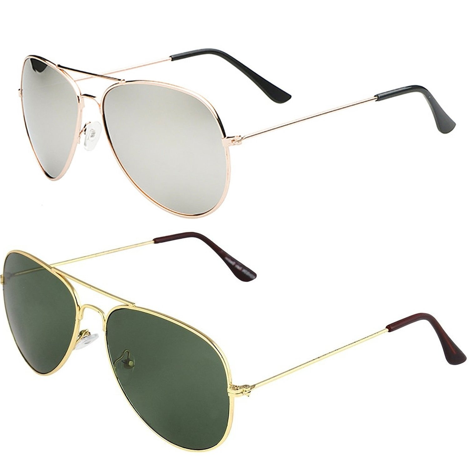dee903ca2a5 SHEOMY COMBO OF STYLISH GOLDEN SILVER MERCURY AVIATOR AND GOLDEN GREEN AVIATOR  SUNGLASSES WITH 2 BOX Best Online Gifts  Amazon.in  Clothing   Accessories