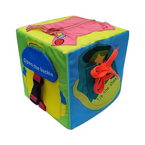 Per Libros Blandos Juguetes Montessori Cubos de Aprendizaje Juguete de Enseñar Vestir Tableros de Montessori Juguete