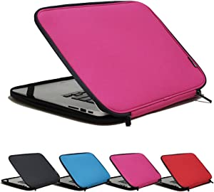 INNTZONE 11.6 Inch Stand-Type Laptop Sleeve case Bag Pouch Cover Notebook Carrying Case - Pink