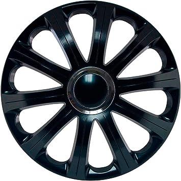 J-Tec J15597 Modena - Juego de tapacubos (15 Pulgadas, Anillos cromados), Color Negro: Amazon.es: Coche y moto