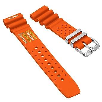 b22c4c31692 ZULUDIVER PU Rubber Watch Band Dive Orange