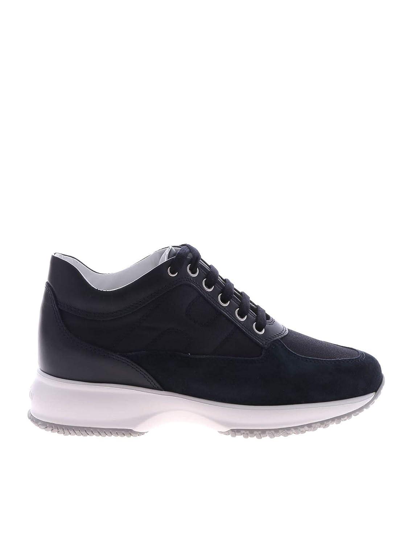- Hogan Women's HXW00N00E10KVV0071 bluee Leather Sneakers