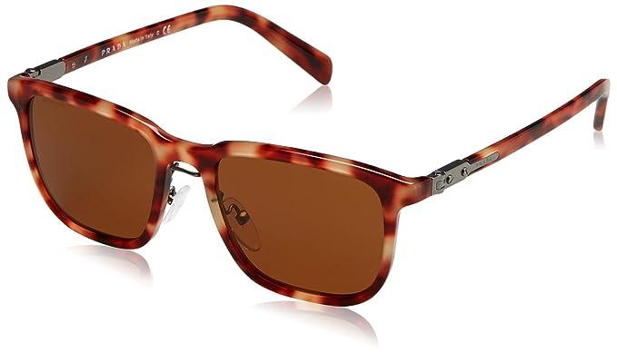 3dd923b6c0c1 australia prada baroque red round sunglasses 78d82 4b711; new style prada  mens pr 02ts sunglasses red havana brown 52mm 90137 da36f