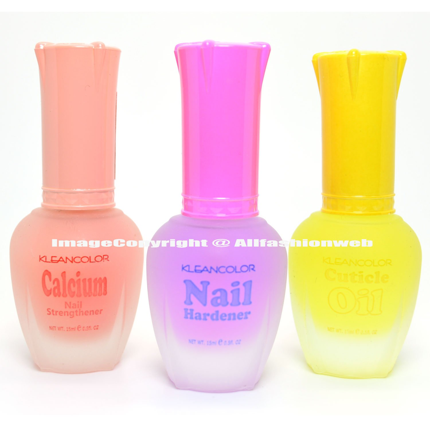 Amazon.com : 3 Kleancolor Nail Polish Calcium Hardener Cuticle Oil ...