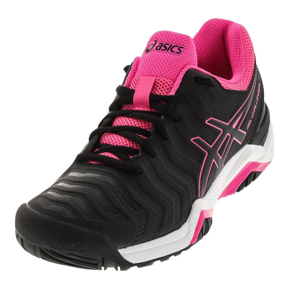 ASICS Women's Gel-Challenger 11 Tennis Shoe B071VP6VX8 8.5 B(M) US|Black/Black/Hot Pink